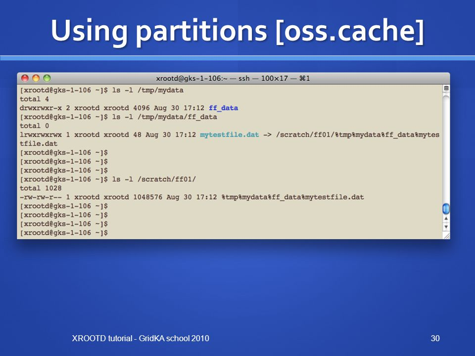 Using partitions [oss.cache]